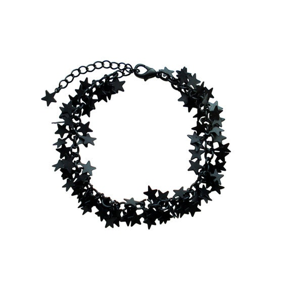 Charm Chain Bracelet - Black Star