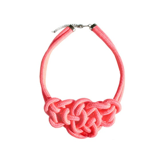 Rope Necklace - Neon Pink