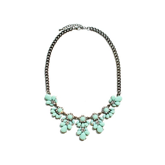 Blossom Necklace - Mint