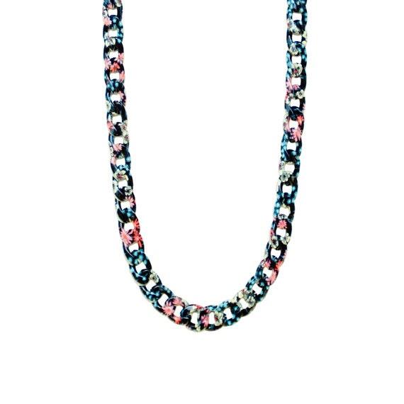 Retro Garden Chain Necklace - Midnight