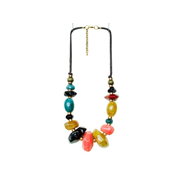 Chunky Beaded Necklace - Multi