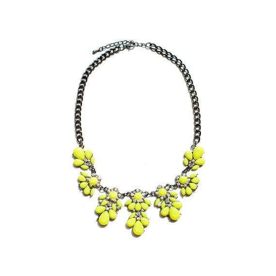 Blossom Necklace - Yellow