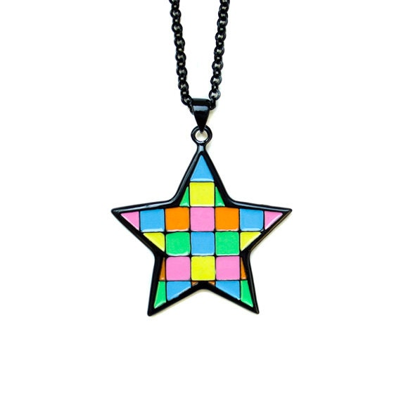 Mosaic Star Pendant Necklace