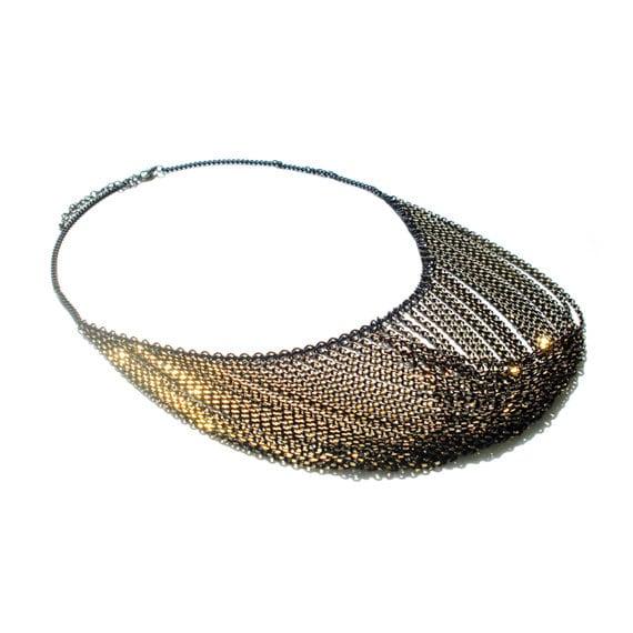 Chic Cascade Multi Strand Chain Necklace