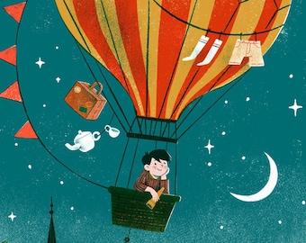 Magic Balloon Adventure Illustration