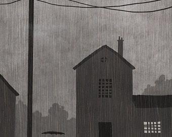 Rainy Day - Illustration Print