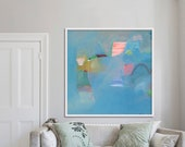 abstract PRINT, giclée, archival, limited edition, LOLA DONOGHUE, blue 'ephemeral #16''