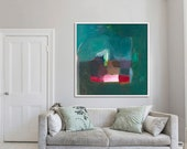 abstract PRINT, giclée, archival, limited edition, DARK GREEN  'ephemeral #23'