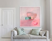 abstract PRINT, giclée, archival, limited edition, pink  'ephemeral #9'