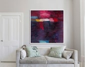 ABSTRACT art, print, giclée print, large print, dark, 'ephemeral #13'