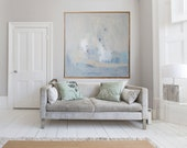 "Blue and cream abstract GICLÉE PRINT, giclée print of  Original modern painting ""Gloaming"""