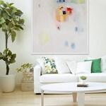 """GICLEE PRINT, white, yellow, pink, modern art, expressionist art """"Guru and Gold ii"""""""