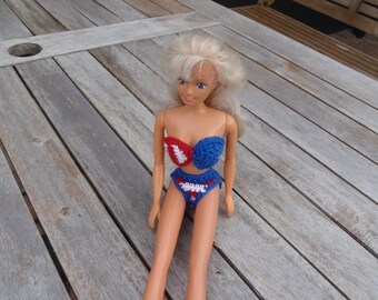 Barbie 4 july bikini crochet, Barbie clothes, Barbie Fashion
