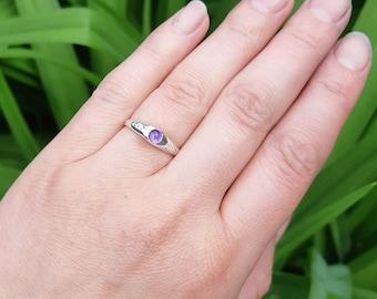 Medieval stirrup ring, gemstone ring, gemstone jewelry, silver ring, reenactor, SCA, cosplay