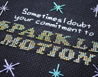 Sparkle Motion cross-stitch