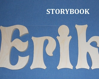 Wooden wall letters etsy wooden wall letters unpainted 6 size storybook various other fonts home decor gifts baby nursery kids dorms wedding spiritdancerdesigns Gallery
