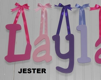 """12/"""" size Painted Wooden Wall Letters Children Nursery Playroom Dorm Names Cheri"""