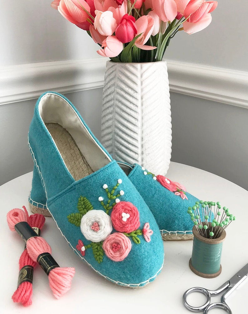 The ARTIST SERIES Espadrilles Kit: Embroidered Wool Shoes image 0