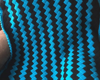 Tunisian Crochet Entrelac Throw/Afghan/Blanket