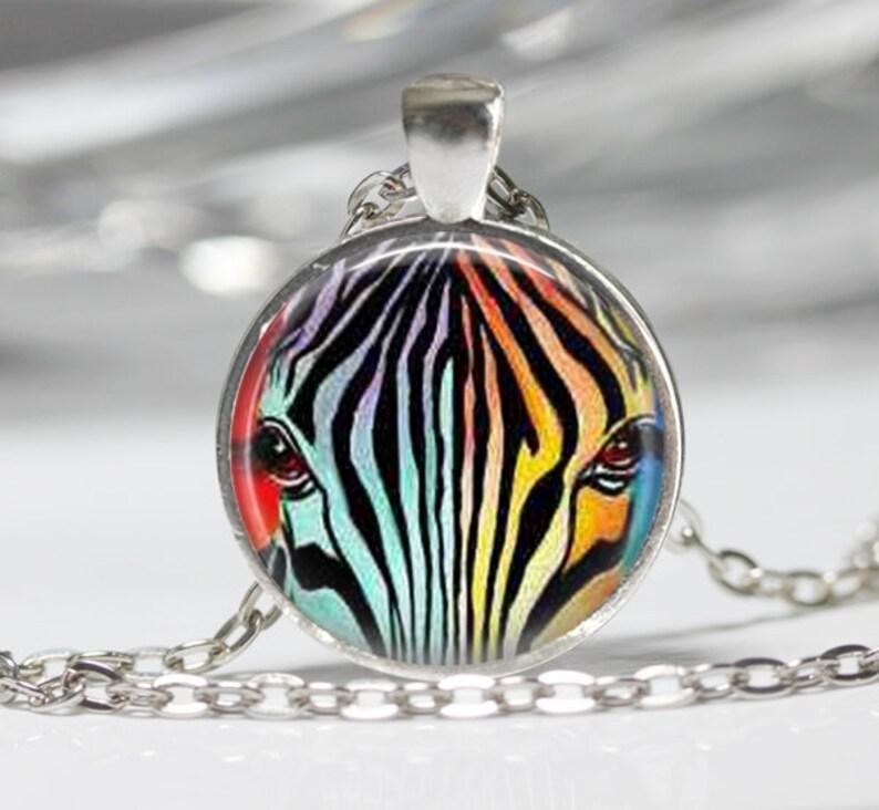 0cb3d57a172a Collar cebra Zebra el arco iris joyería