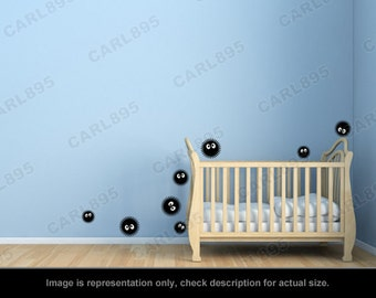 Totoro Inspired - Soot Sprites Wall Art Applique Stickers