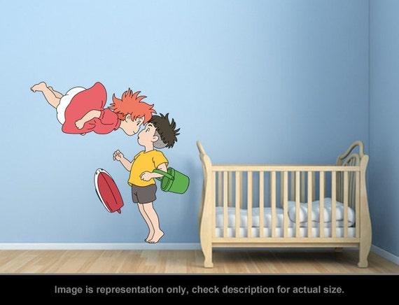 Ghibli Howls Moving Castle Heen Wall Art Applique Sticker