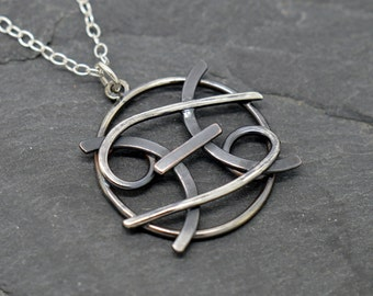 Pisces Cancer combined zodiac necklace