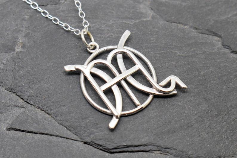 7a823f059e29 Piscis Escorpio combinan signos zodiaco collar plata