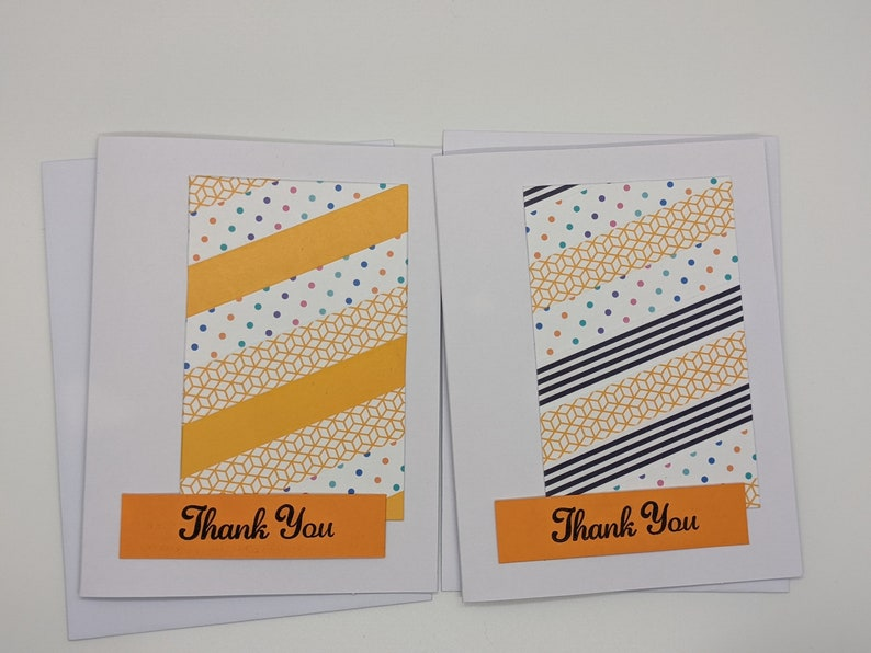 Tangerine Thank You Card Duo washi tape