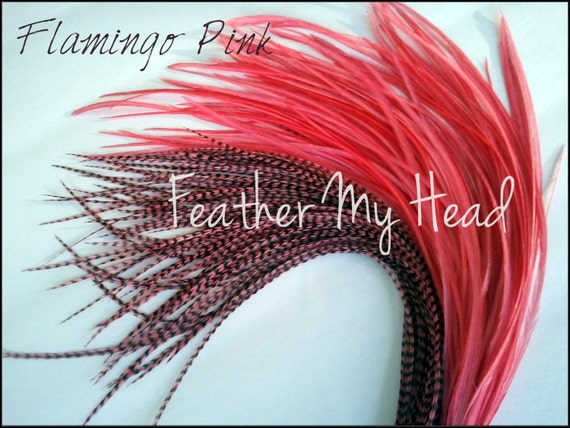 23-30 cm 10 Pc 9-12 inches Long -  Red Feather Hair Extension