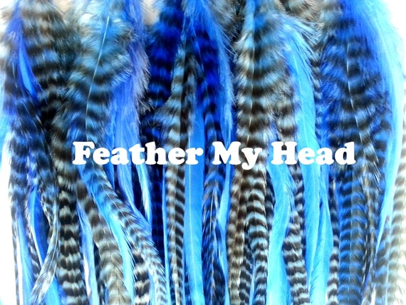 """15 Pc Wide Accent Feather Hair Extenions 7/"""" to 11/""""  Purples Crafts Fly Tying"""