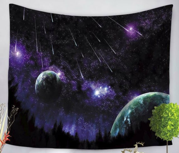 Universe Galaxy Space Tapestry Wall Hanging Bedspread Throw Cover Mat Home Dec h