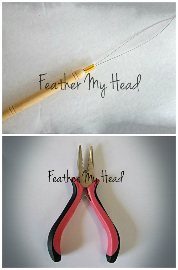 Feather Hair Extension Tool Kit Threading Tool And Pliers Etsy