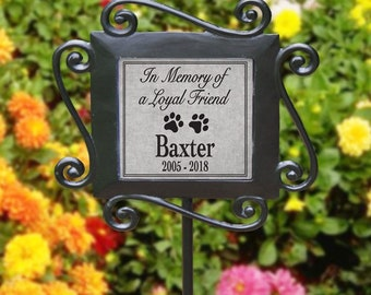 Personalized Pet Memorial Garden Stake, Dog, Cat, Loss Of Pet, Pet Sympathy  Gif