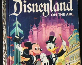 "Vintage Disneyland On The Air  Little Golden Book, ""A"" Edition, D43"