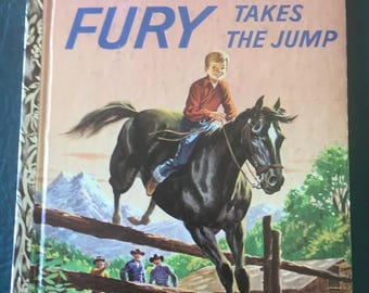 "Vintage Fury Takes the Jump Little Golden Book, ""A"" Edition, 1959"