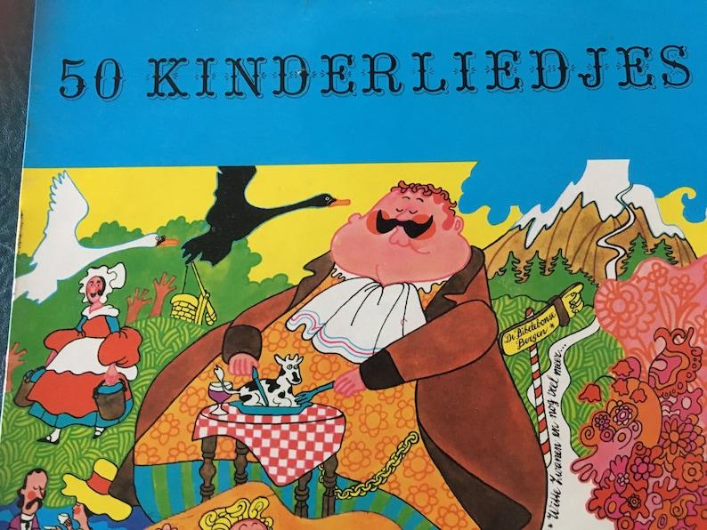Vintage 50 Kinderliedjes (Dutch Children's Songs) 33 1/3 rpm Children's  Sunderland Record