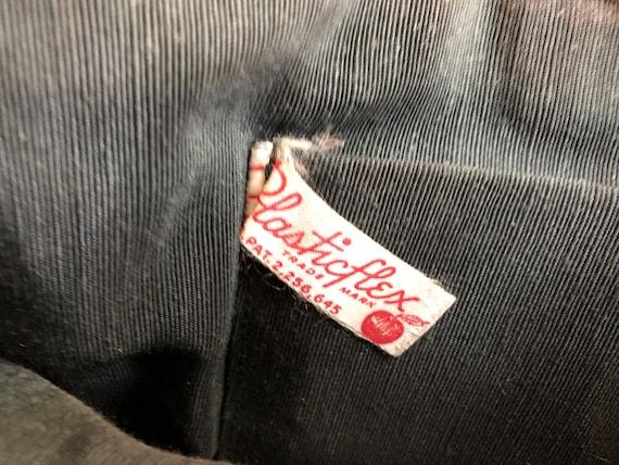 Vintage 40's Large Cream Plasticflex Clutch Bag w… - image 9