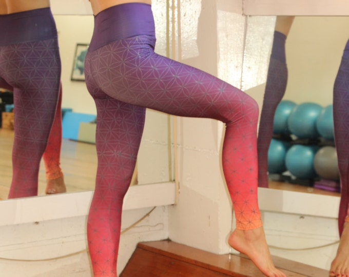 Flower of Life OMBRE FITNESS Yoga Leggings
