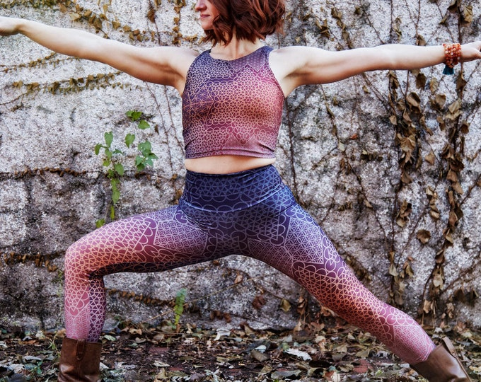 Ombre SACRED Geo FITNESS Yoga Leggings