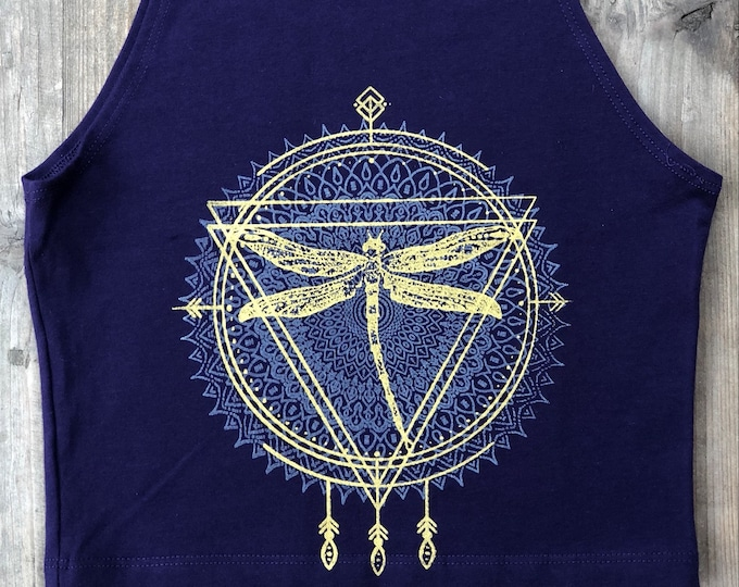 DRAGONFLY Spirit Animal Fitted Crop Tank