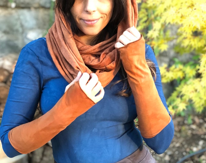 Essential Layering Dyed Infinity Scarf - Triblend Organic SCARF - CHOOSE Your COLOR