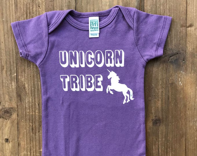 UNICORN TRIBE Organic Baby Onesie Bodysuit