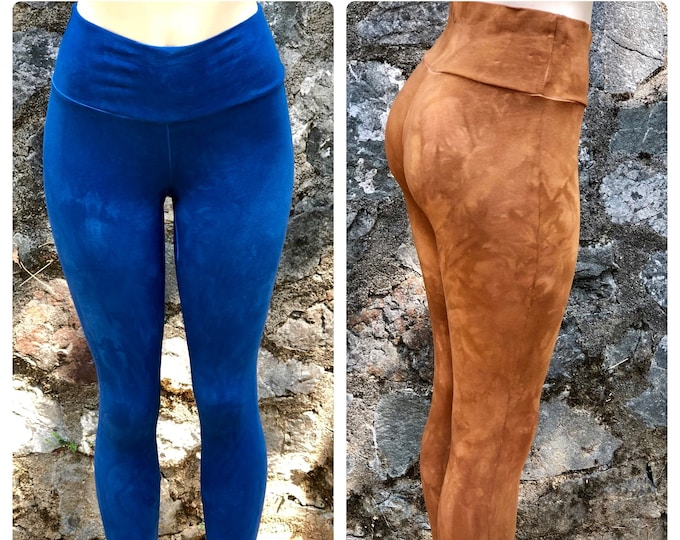 WIDE WAIST VAT Dye Leggings - Choose your color - Essential Layering