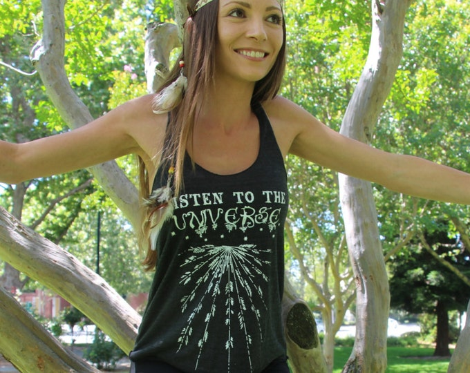 LISTEN To The UNIVERSE Racerback Tank Top