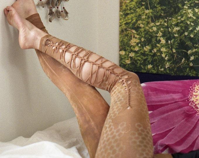 GLOW in the DARK Honeycomb Cutty Creations Leggings