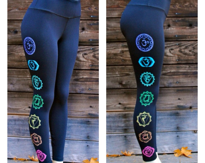 Bold FITNESS CHAKRA Yoga Leggings size LARGE only
