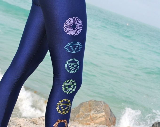 Simple Chakra Metallic Shiny Leggings