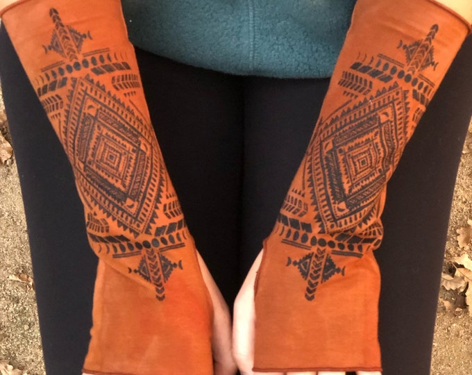 Tribal Moons Wrist Warmers - Choose your color