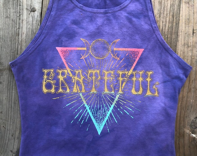 GRATEFUL Ombre Fitted Crop Tank